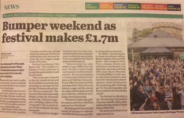 Lancaster Guardian article