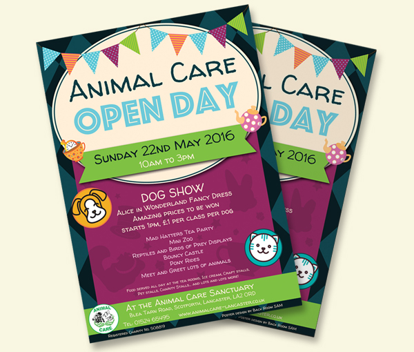 Animal Care Open Day 2016 poster
